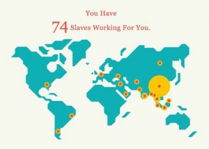 Smartboard game - Slavery Footprint