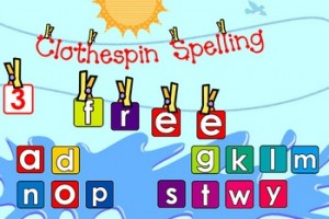 Clothespin Spelling Smartboard Activity