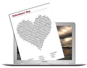 Valentine's Day Wordsearch